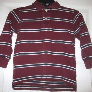Gap Red White Blue Striped L/S Polo Top Boys XS